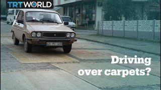 What happens when you drive a car over a hand-knotted carpet? Video