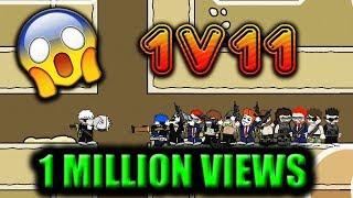 Mini Militia 1vs11 EPIC CHALLENGE !! Godlike Gameplay !! | Doodle Army 2: Mini Militia #46