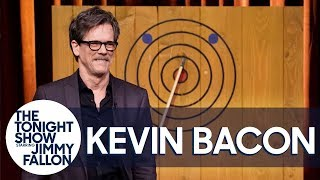 Kevin Bacon Proves He Can Hit a Bullseye with an Axe
