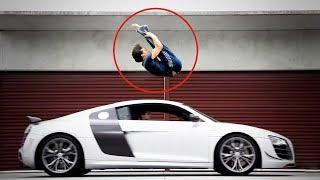 Tiger Shroff Amazing Backflip Over Speeding Sport Car
