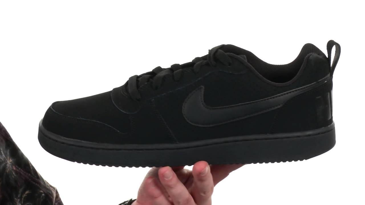 Nike Recreation Low Mens Black/Black/Black U668880IB Shoes