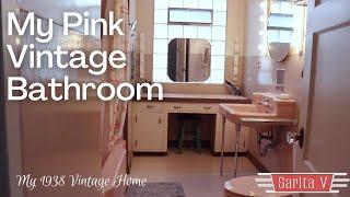My Beautiful Original Pink 1930s-1940s Vintage Bathroom!