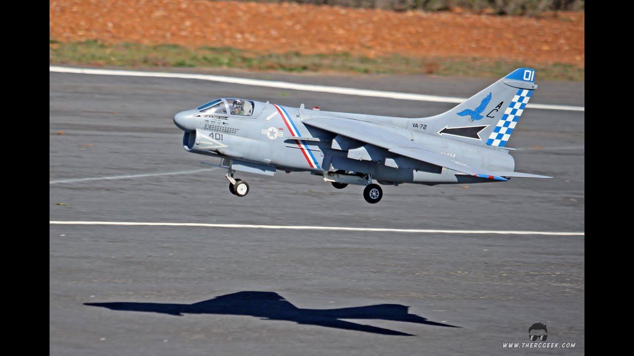The RC Geek's A-7 Corsair II (Jet Hangar) 90mm EDF Flight at MRCF