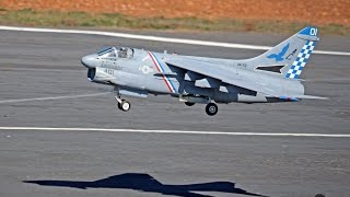 the rc geek s a 7 corsair ii jet hangar 90mm edf flight at mrcf