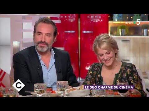 Jean Dujardin et Mélanie Laurent au dîner - C à Vous - 08/02/2018