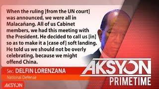 Lorenzana, inaming pinigilan ni Pres. Duterte ang pagpapadala ng militar sa Panatag Shoal