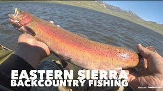 Eastern Sierra Fishing backcountry lake and Convict/Crowley