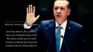 Cumhurbaşkanı Erdoğan'dan Muhteşem Şiir Öp Beni Anlımdan Sen Öp Seccadem !!