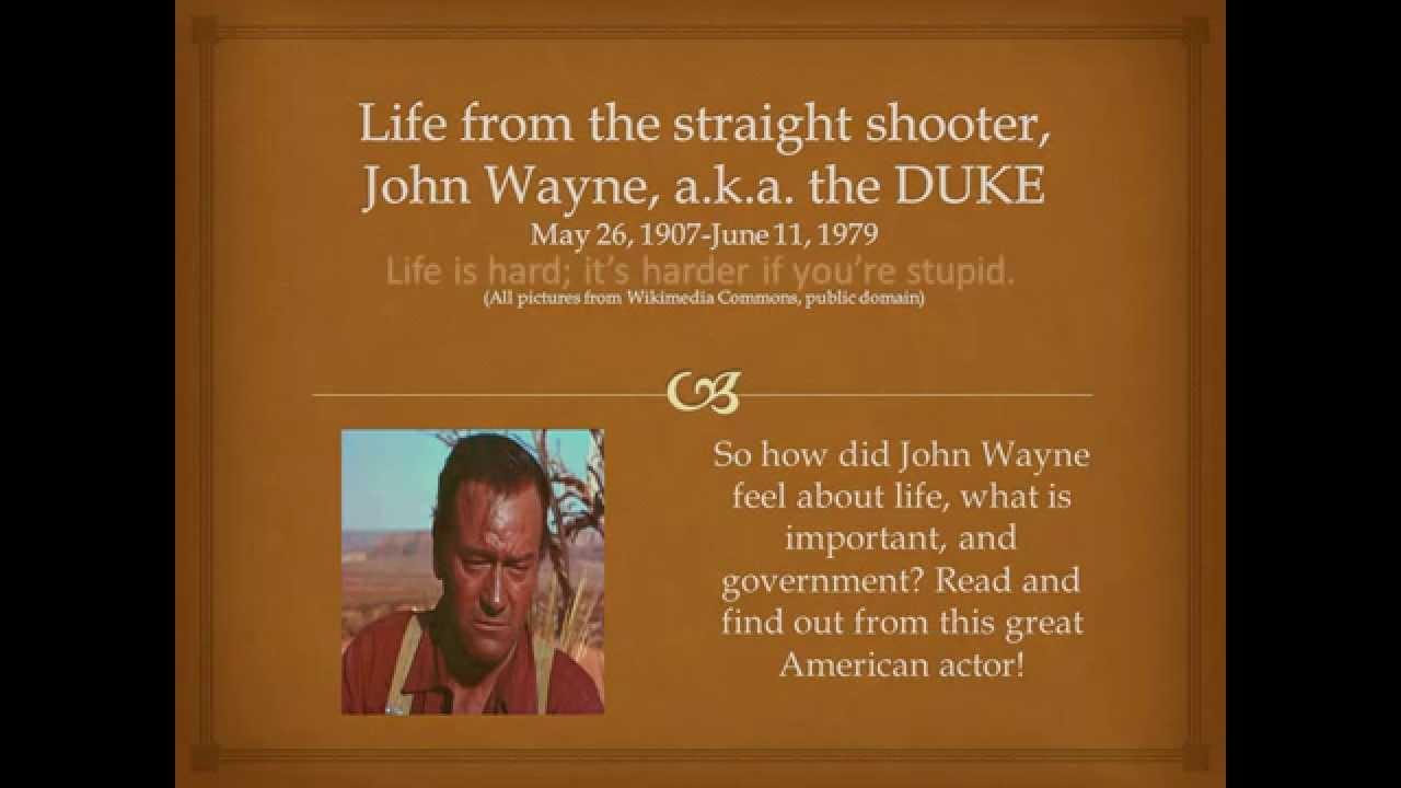John Wayne Quote Life Is Hard John Wayne Great Quotes  Youtube