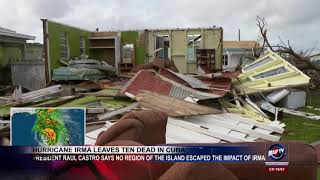 HURRICANE IRMA LEAVES TEN DEAD IN CUBA