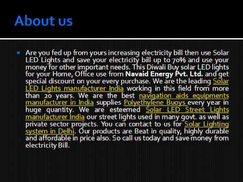 Power saver Solar LED Lights manufacturer India-Navaid Energy