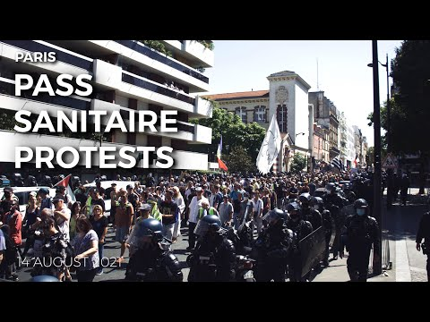 PARIS PROTESTS 14 AUGUST 2021 | France protests against Pass Sanitaire! Travel Vlog #81
