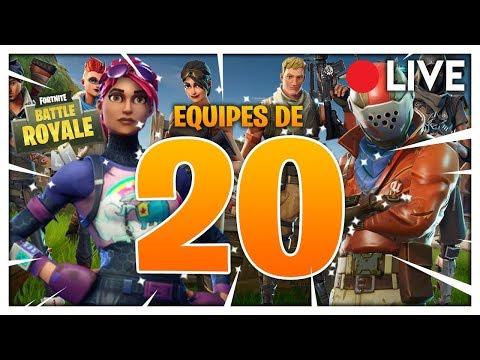 EQUIPES DE 20 ! - Fortnite