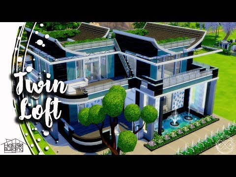 The Sims 4 House Building #24 - Twin Loft Apartment Speed Bu
