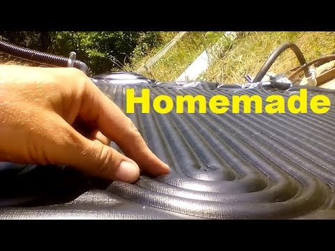 DIY flat plate solar collector from cheap solar pool heater