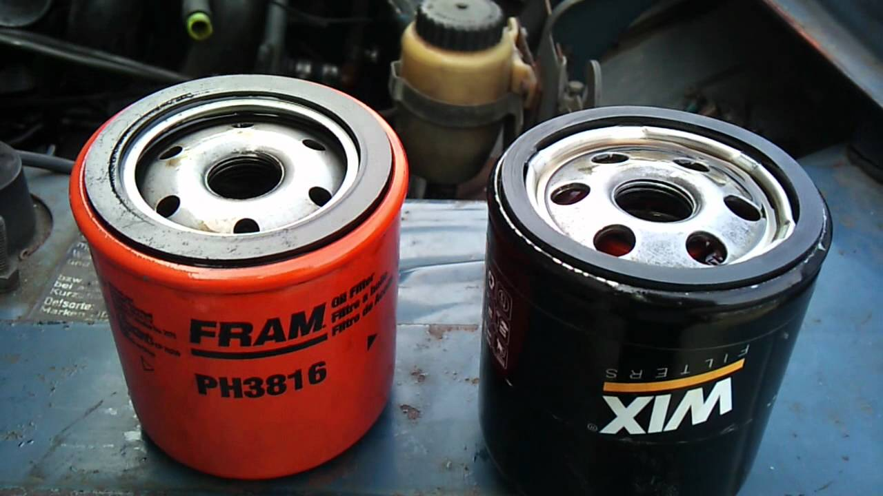Rant On Oil Filters Fram Vs Wix Youtube Racing Fuel Filter