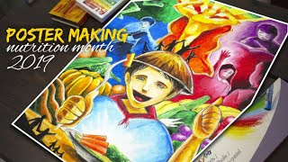 POSTER MAKING NUTRITION MONTH 2019 Video