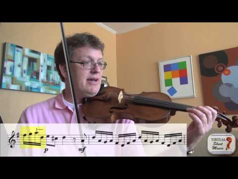 How to study the Allegro by Fiocco for violin and piano