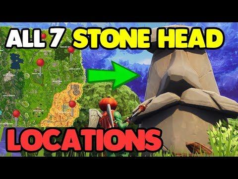 ALL 7 STONE HEAD LOCATIONS!