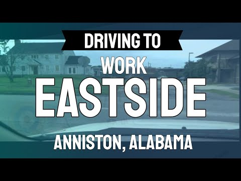 Driving to Work Eastside of Anniston, Alabama