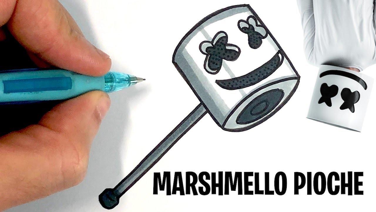 Comment Dessiner La Pioche Marshmello Fortnite
