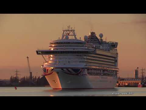 Four Cruise Ship departures Southampton Docks 27/10/17
