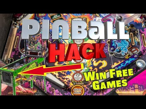 Pinball Hack!!! How To Win Free Games - Big Wins! Arcade Show