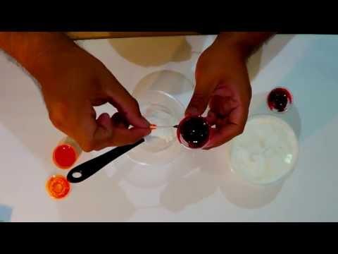 Colores para pasteles color anaranjado youtube for Como sacar el color aguamarina