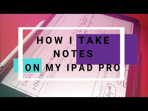 """How I takes notes on my iPad pro 12.9""""