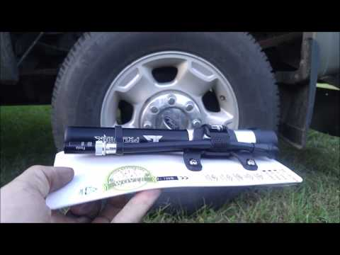 (:Review:) Wovte Frame Mounted Bicycle Pump ~Tested on an 85PSI Truck Tire