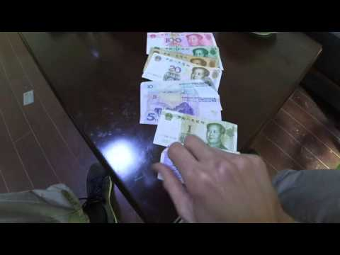 Chinese currency Yuan or Renminbi: banknotes and coins