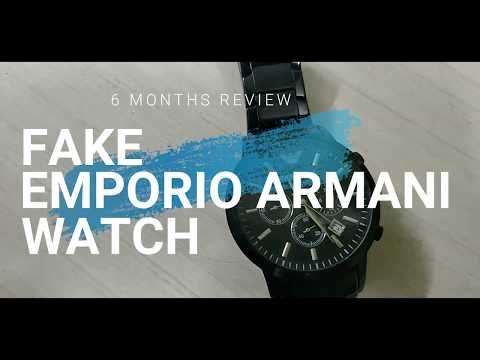 6 Month Review of Fake Armani Watch AR2453 from Snapdeal Replica