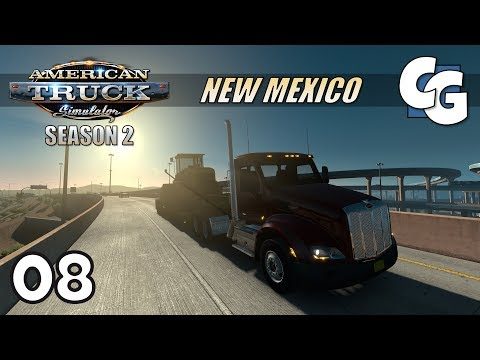 ATS S02E08 - No GPS Challenge - American Truck Simulator New Mexico Let's Play