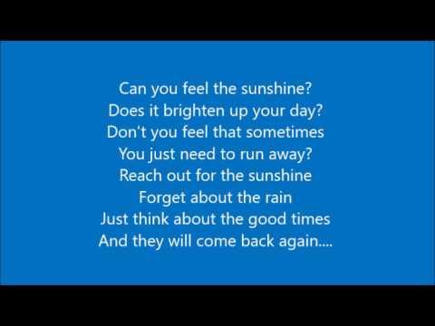 Can you feel the sunshine backwards lyrics