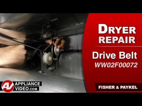 Fisher & Paykel Dryer  - Drive Belt Repair