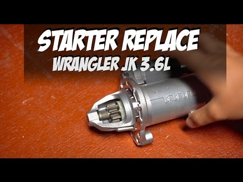 wrangler jk 3 6 starter replace / how to change starter ok jeep jk - youtube