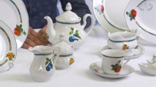 Посуда из белого фарфора Мэри-Энн (Mary-Anne) Фруктовый сад 080H (Leander, Чехия)(, 2017-01-04T21:36:05.000Z)