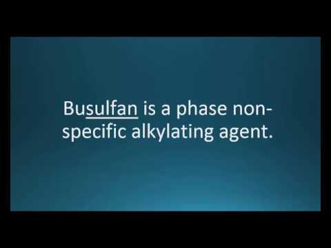 How to pronounce busulfan (Myleran) (Memorizing Pharmacology Video Flashcard)