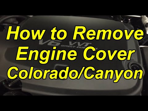 20172018 Chevy Colorado Engine CoverIntake Tube Removal