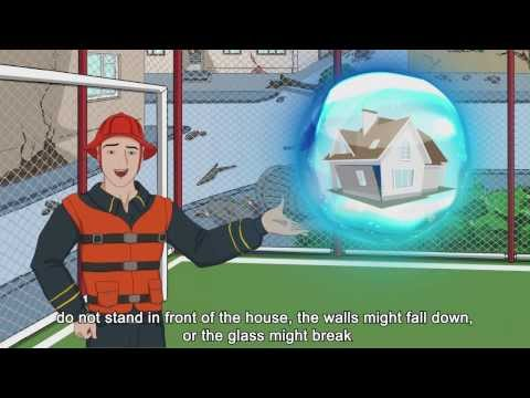 Disaster risk reduction (DRR) - Educational Animation Cartoon