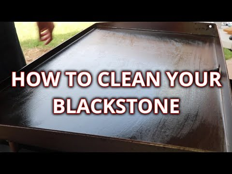 How to clean your Blackstone Griddle - 36 inch Blackstone Griddle
