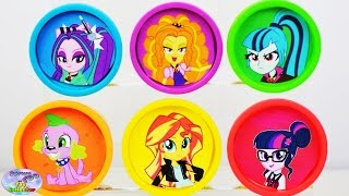 My Little Pony Equestria Girls Play Doh Dazzlings MLP Shopkins Surprise Egg and Toy Collector SETC