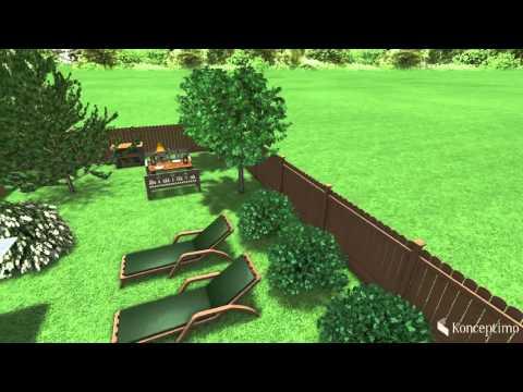 Ландшафтный проект участка 6 соток в Садовом товариществе Сулицы