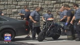 POLICE Chase GONE BAD Stunter Wheelies Into COP CAR Crash COPS VS BIKES Shut Down Highway FOX 4 NEWS
