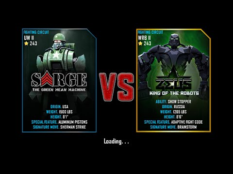 Real Steel WRB Free Sparring Sarge VS Zeus NEW ROBOT UPDATE