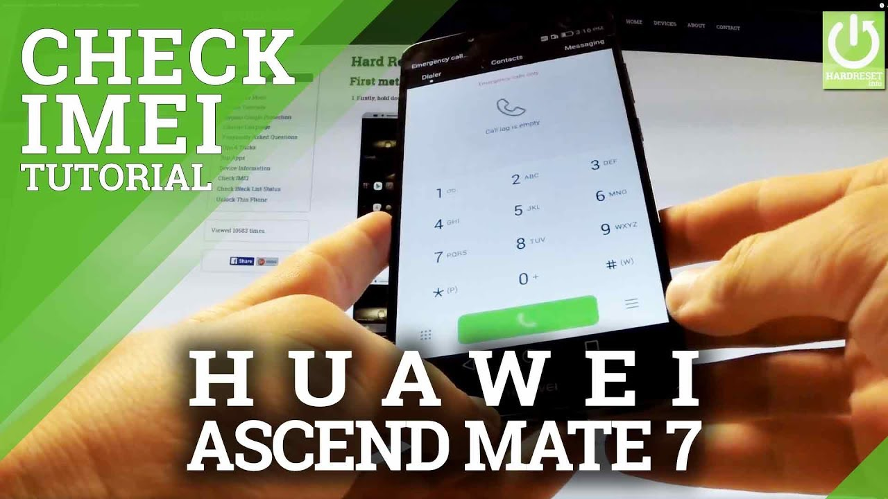 how to find huawei imei number