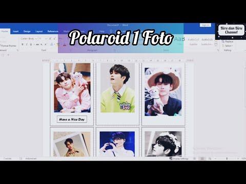 Cara Membuat Polaroid Sendiri di Microsoft Word | DIY Polaroid Polos
