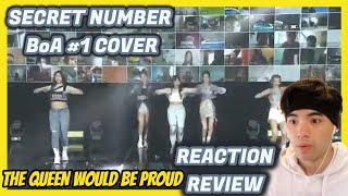 SECRET NUMBER (시크릿넘버) - BoA(보아) No.1 (COVER) REACTION / REVI…