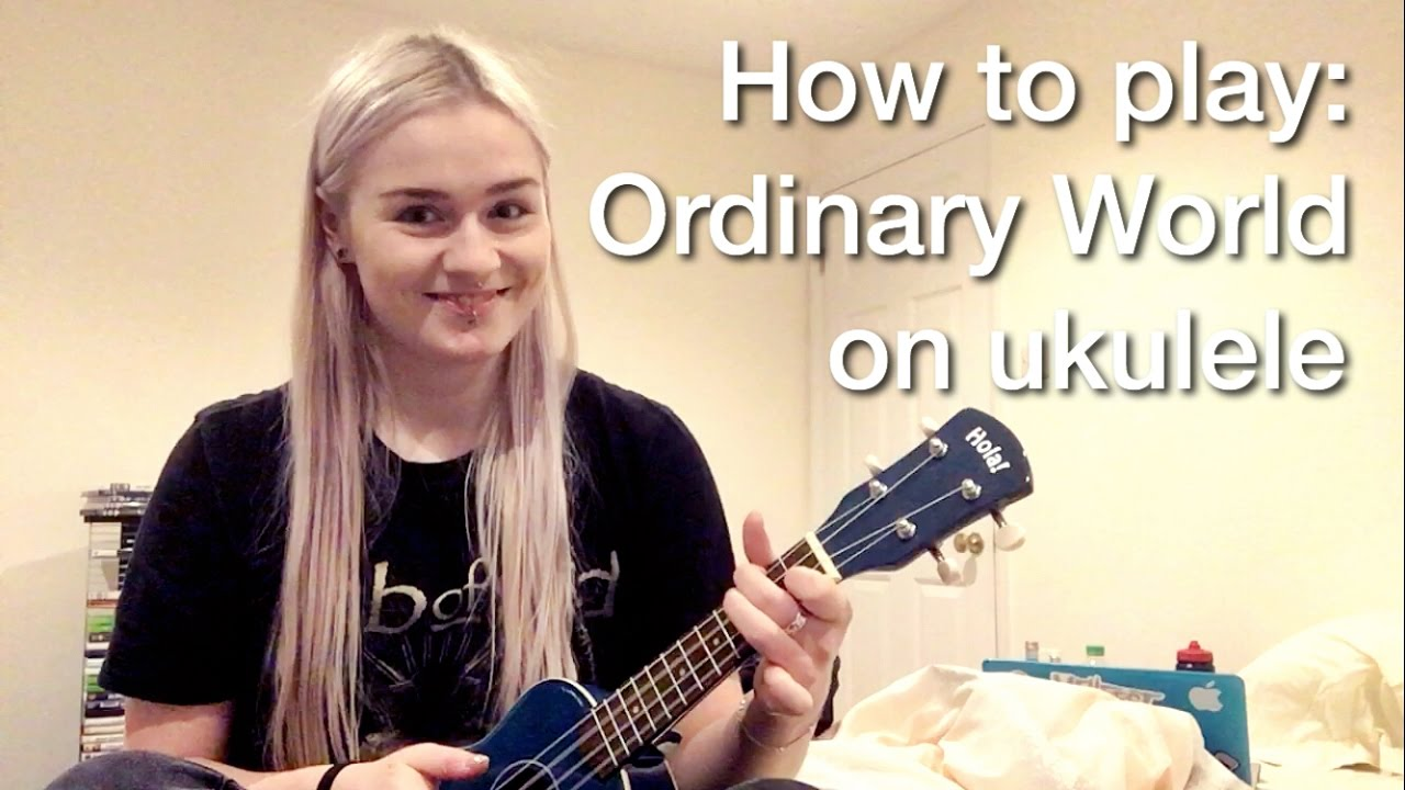 How To Play Ordinary World Green Day Ukulele Cover Cc Youtube
