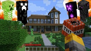 GIANT CREEPERS APPEAR IN MY HOUSE IN MINECRAFT !! Minecraft Mods